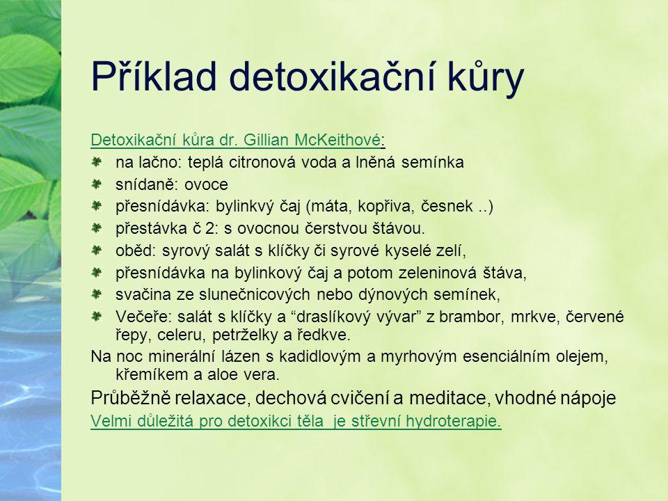 Příklad detoxikační kůry