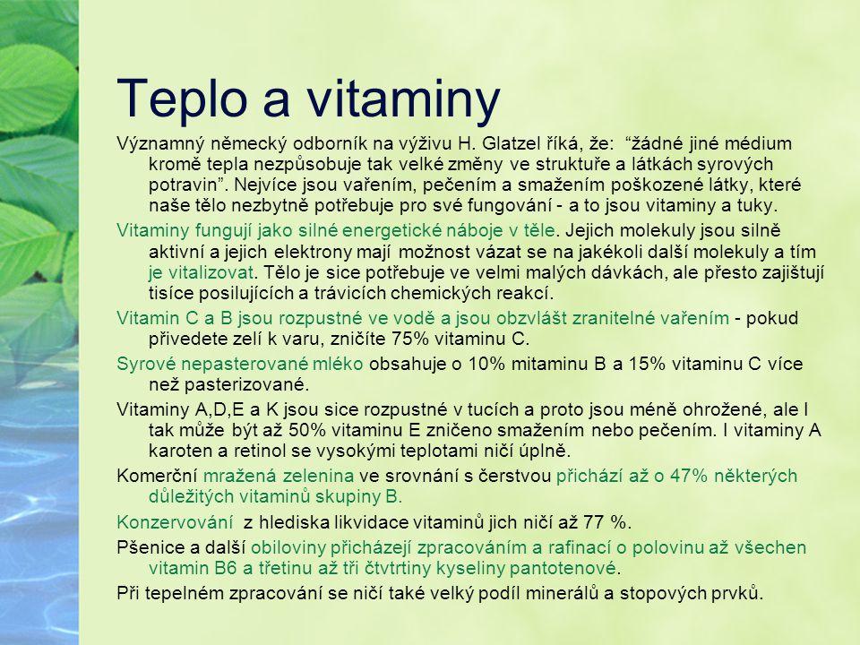Teplo a vitaminy