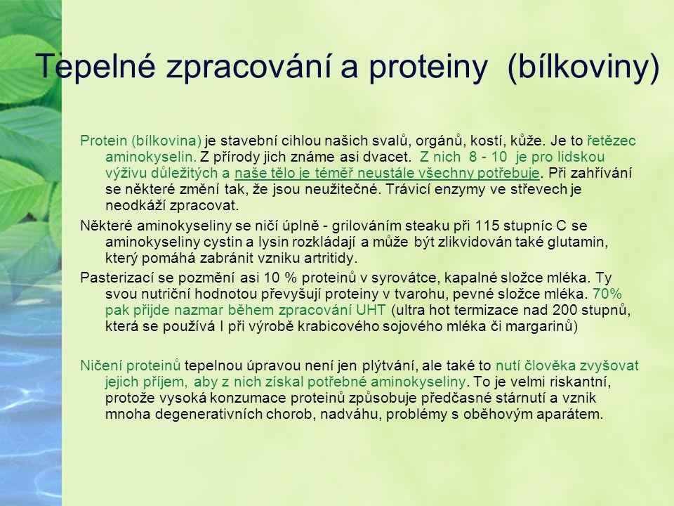 Tepelné zpracování a proteiny (bílkoviny)