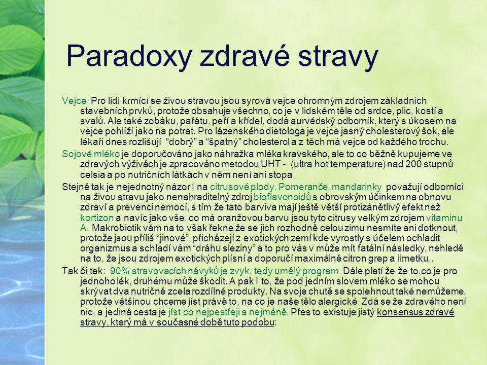 Paradoxy zdravé stravy