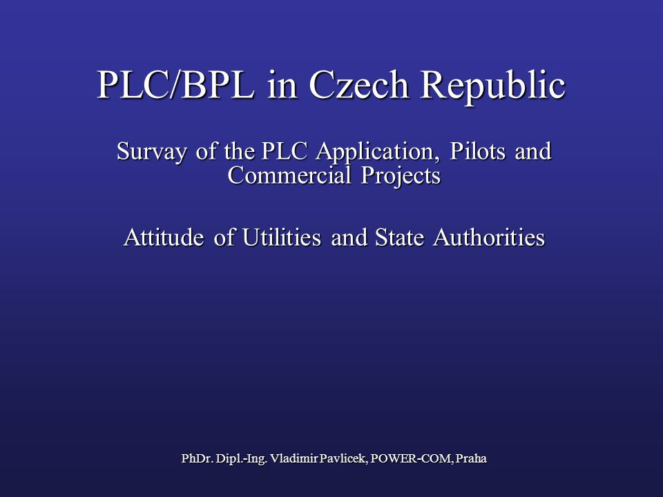 PLC/BPL in Czech Republic