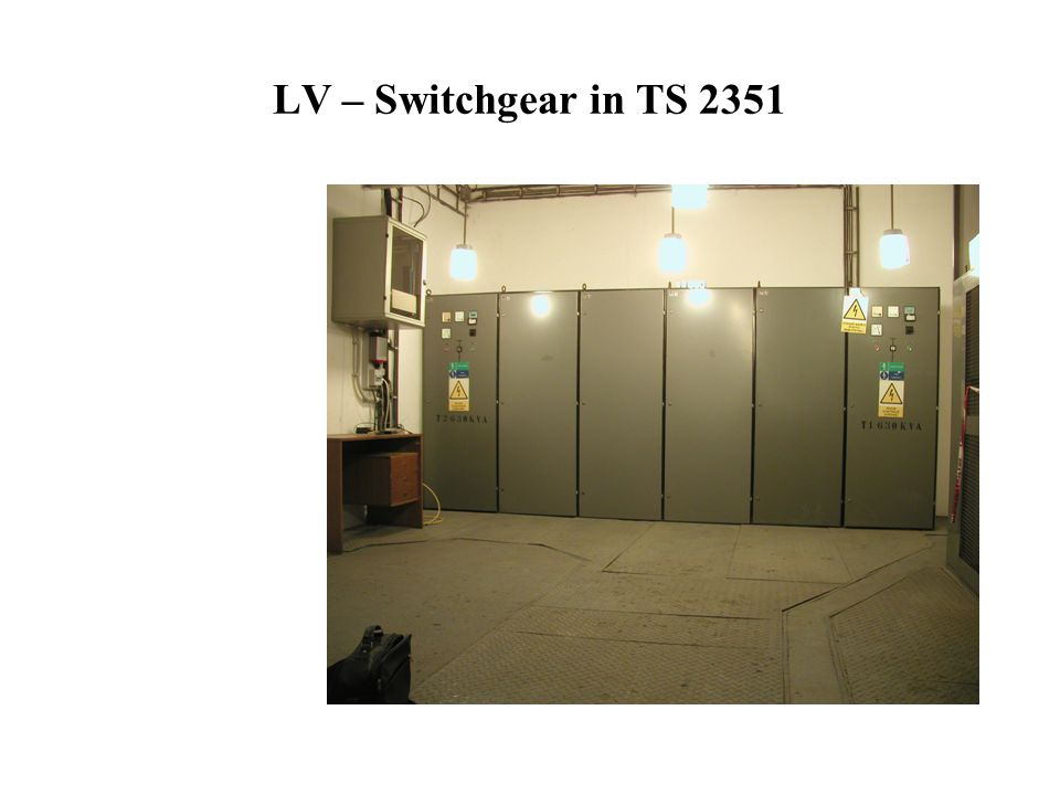 LV – Switchgear in TS 2351
