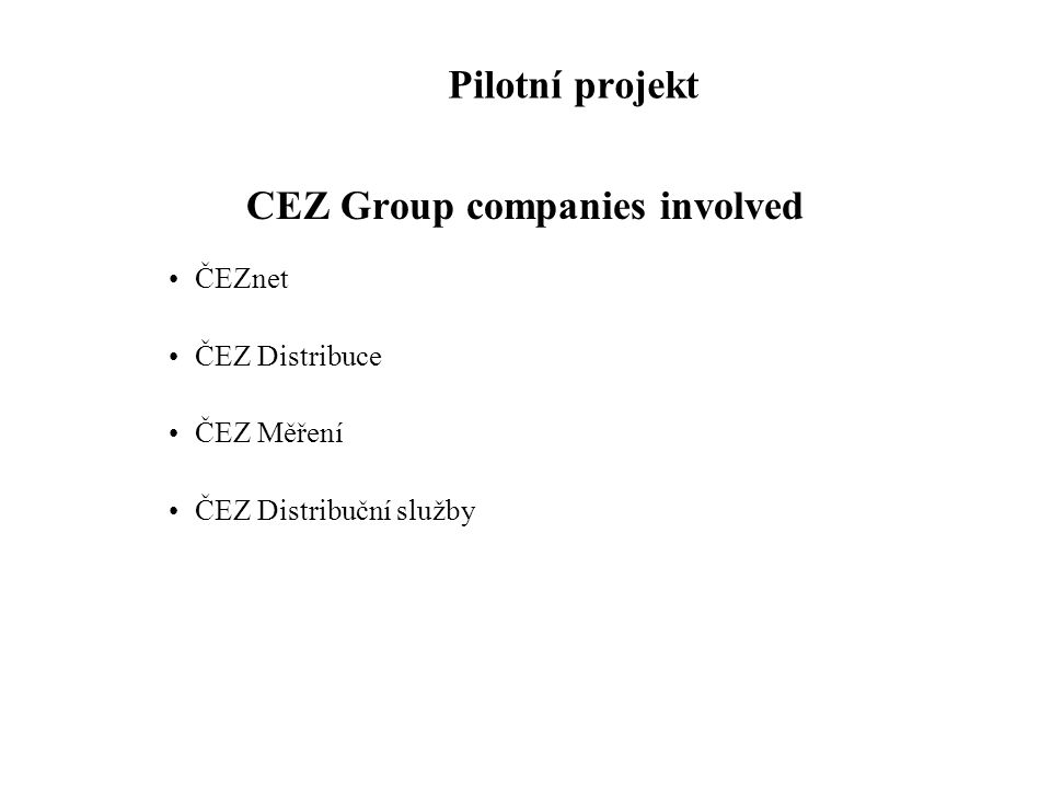 CEZ Group companies involved