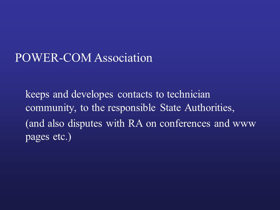 POWER-COM Association