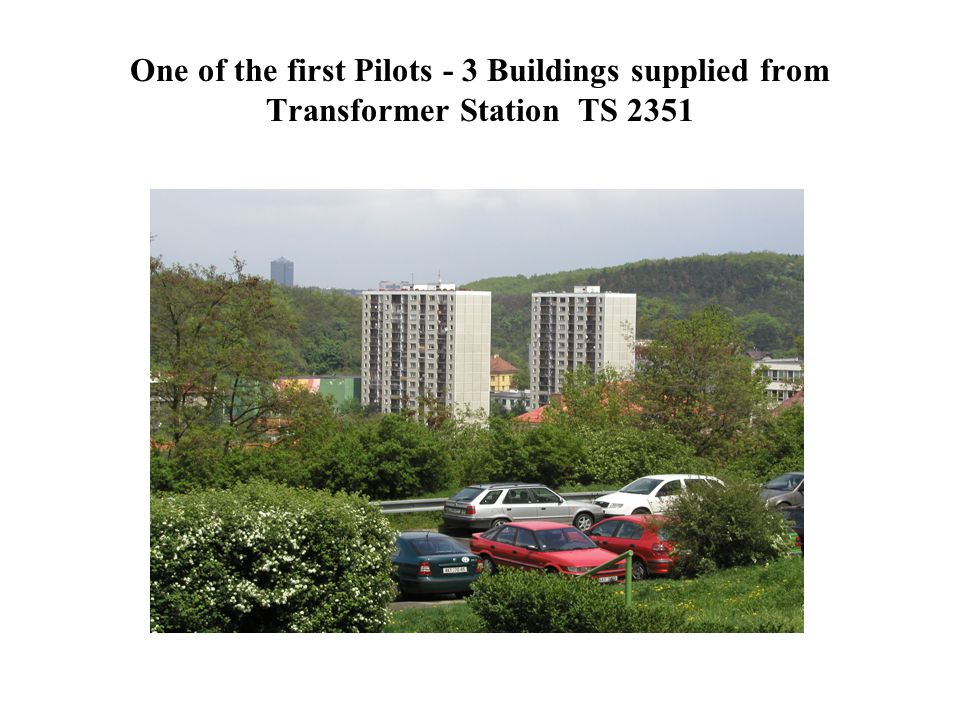 One of the first Pilots - 3 Buildings supplied from Transformer Station TS 2351