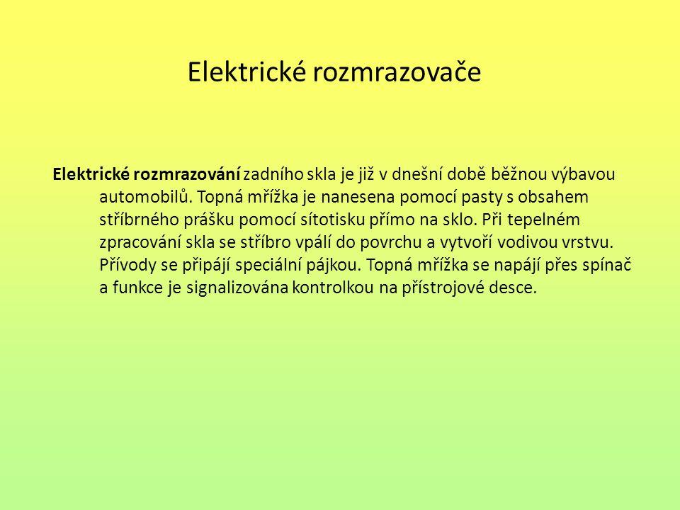 Elektrické rozmrazovače