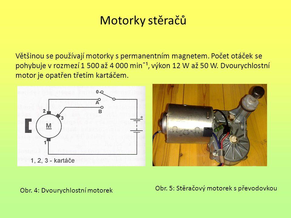 Motorky stěračů