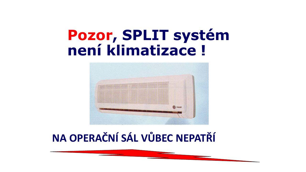 Pozor, SPLIT systém není klimatizace !