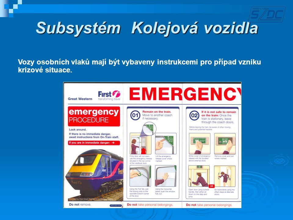 Subsystém Kolejová vozidla