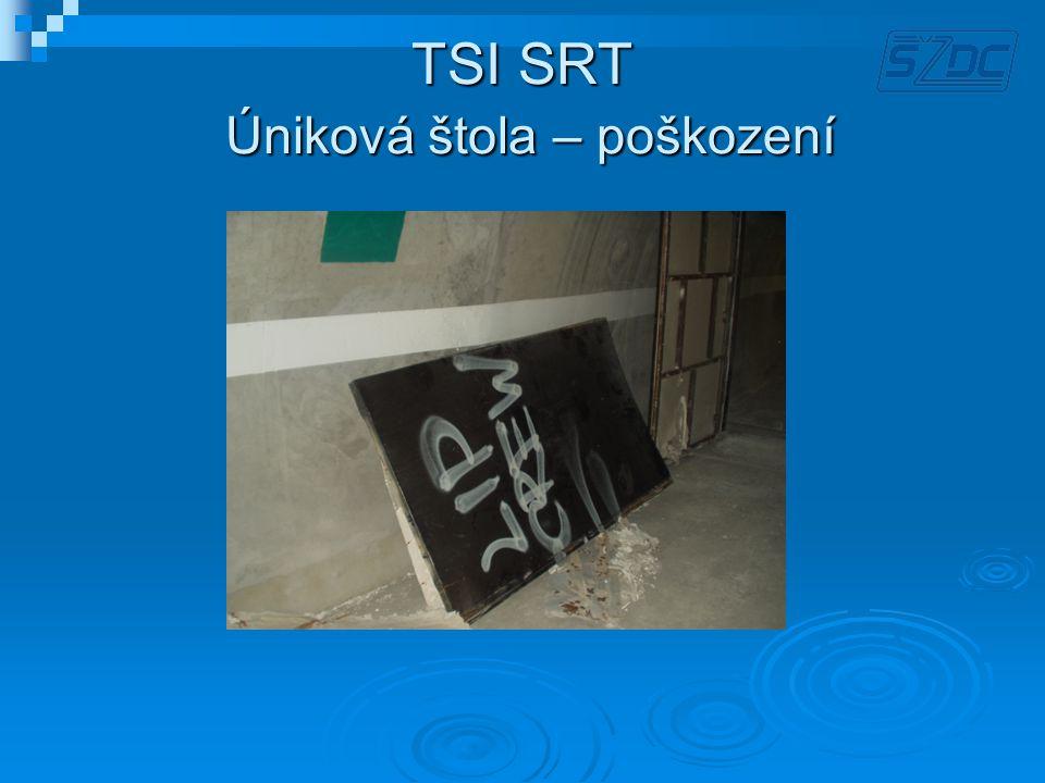 TSI SRT Úniková štola – poškození