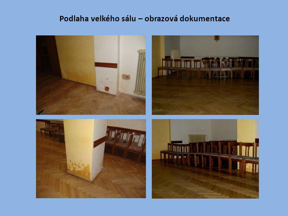 Podlaha velkého sálu – obrazová dokumentace