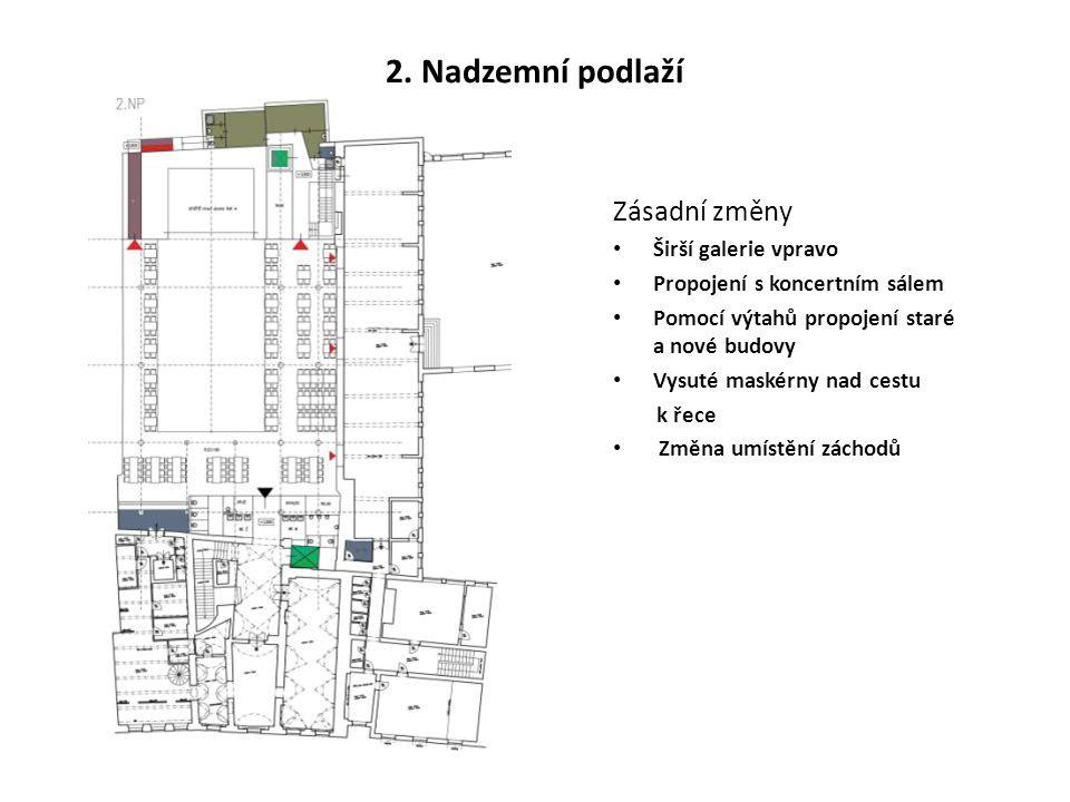 2. Nadzemní podlaží Zásadní změny Širší galerie vpravo