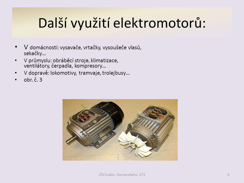 Další využití elektromotorů: