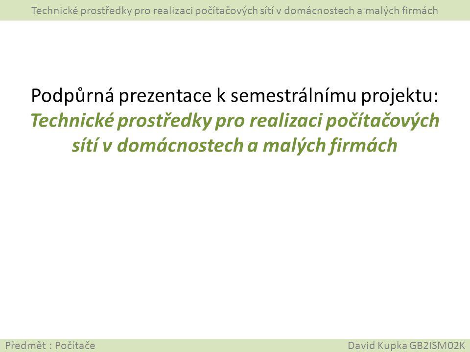 Podpůrná prezentace k semestrálnímu projektu: