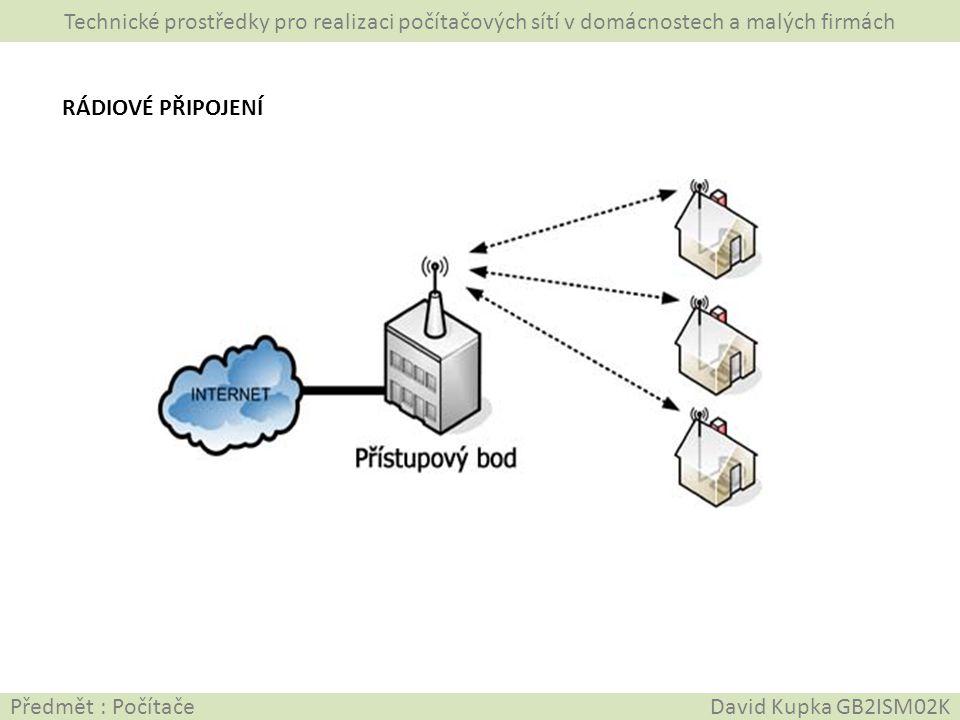 Technické prostředky pro realizaci počítačových sítí v domácnostech a malých firmách