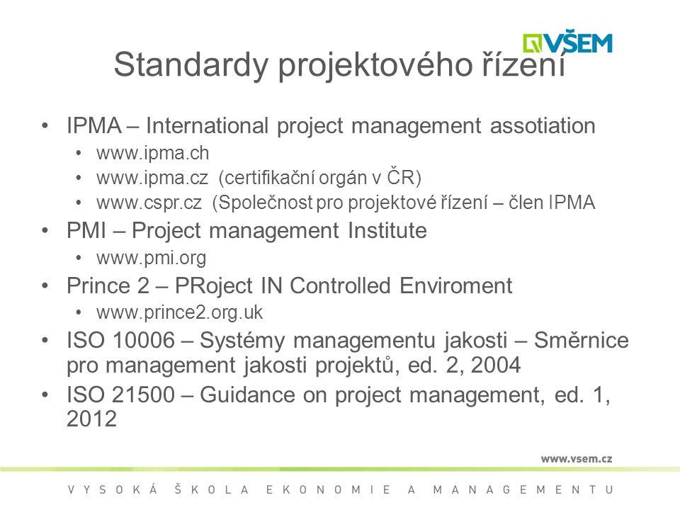 Standardy projektového řízení