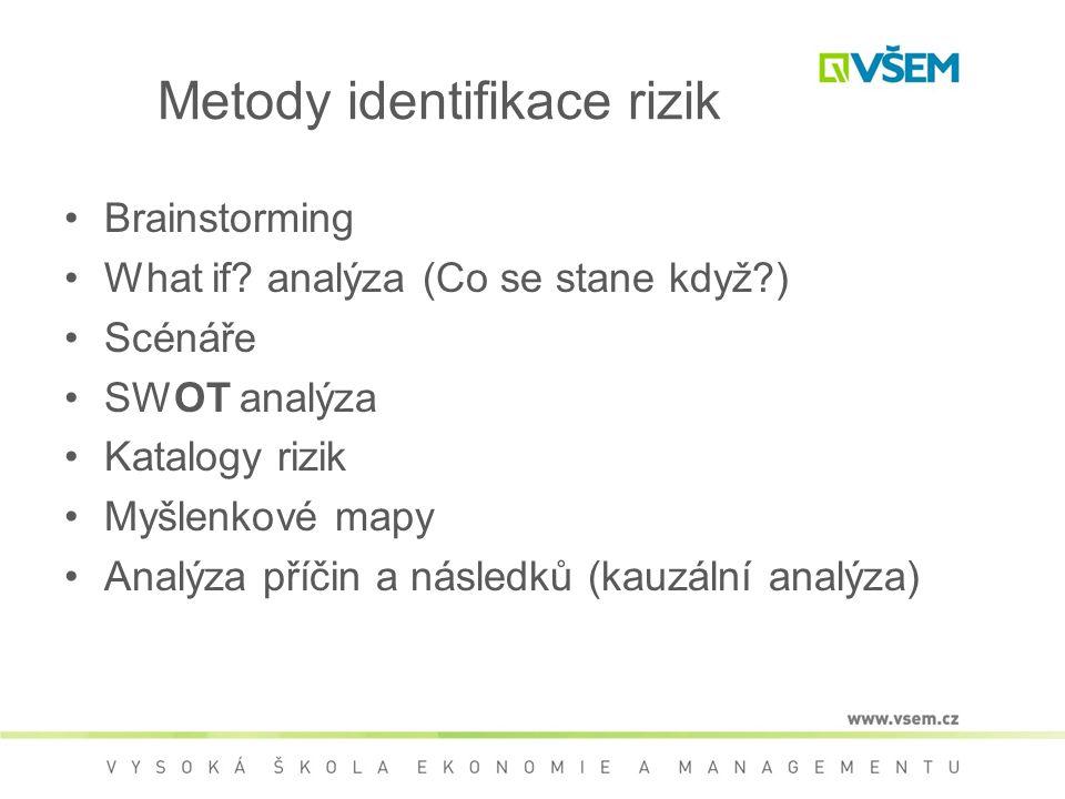 Metody identifikace rizik