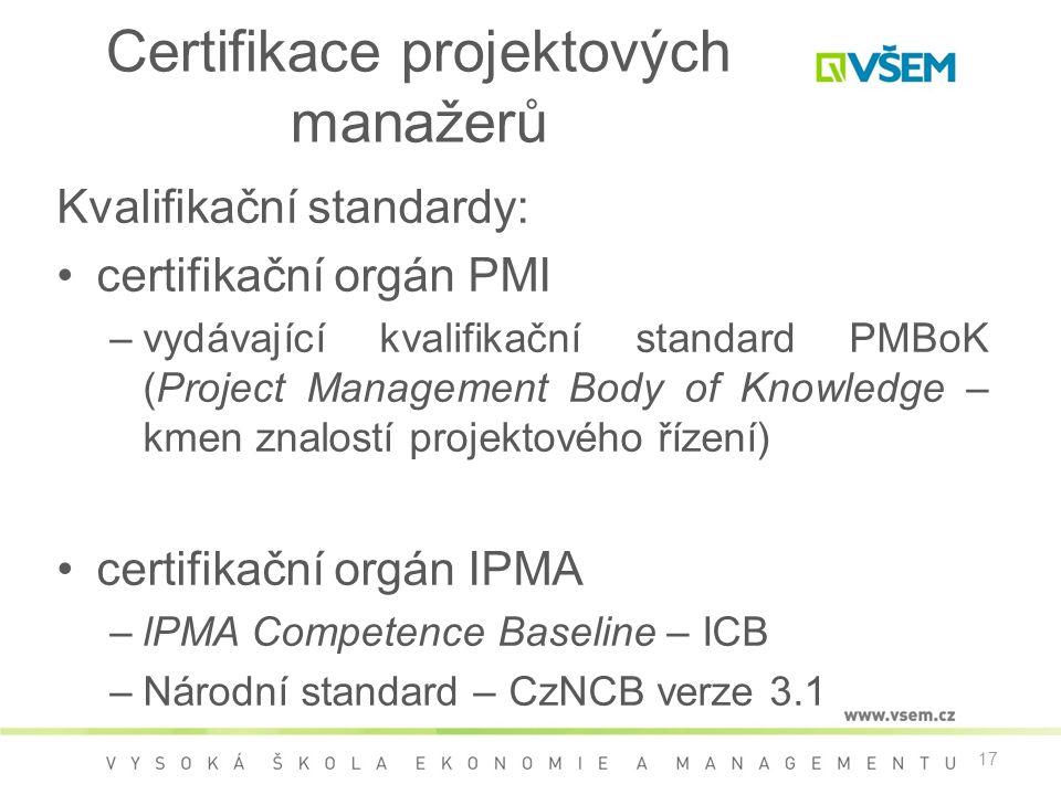 Certifikace projektových manažerů