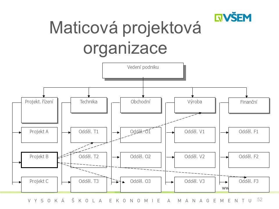 Maticová projektová organizace