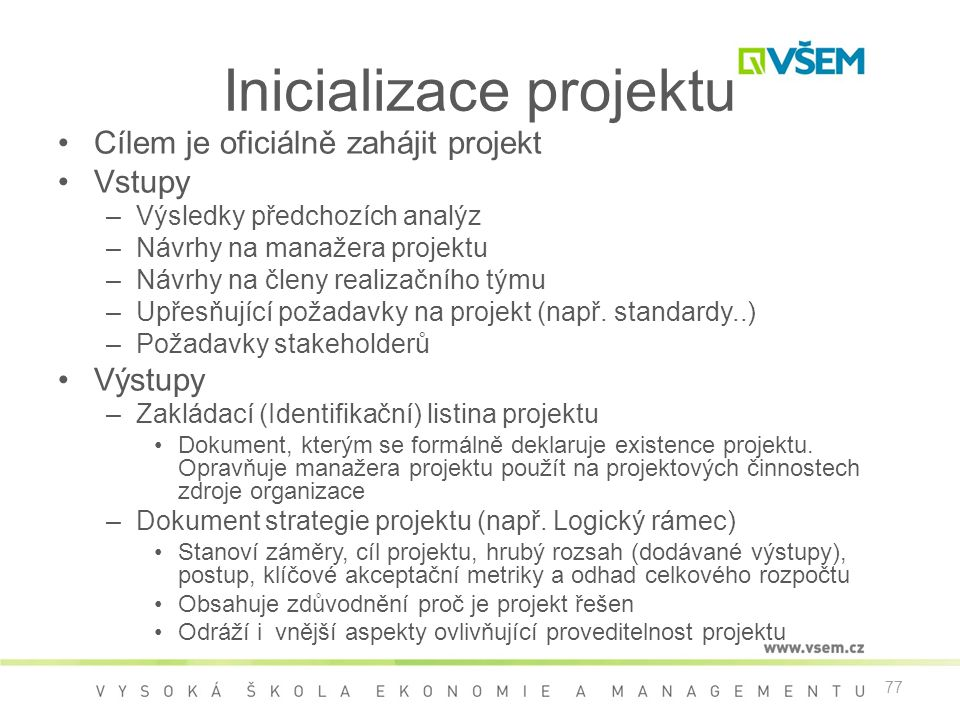 Inicializace projektu