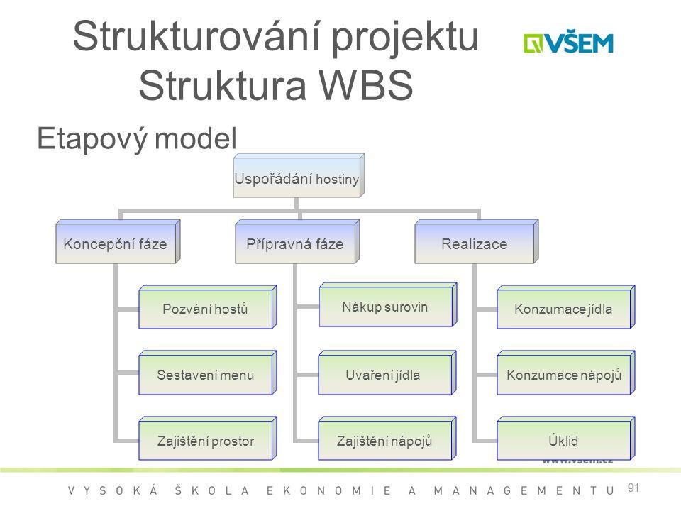 Strukturování projektu Struktura WBS