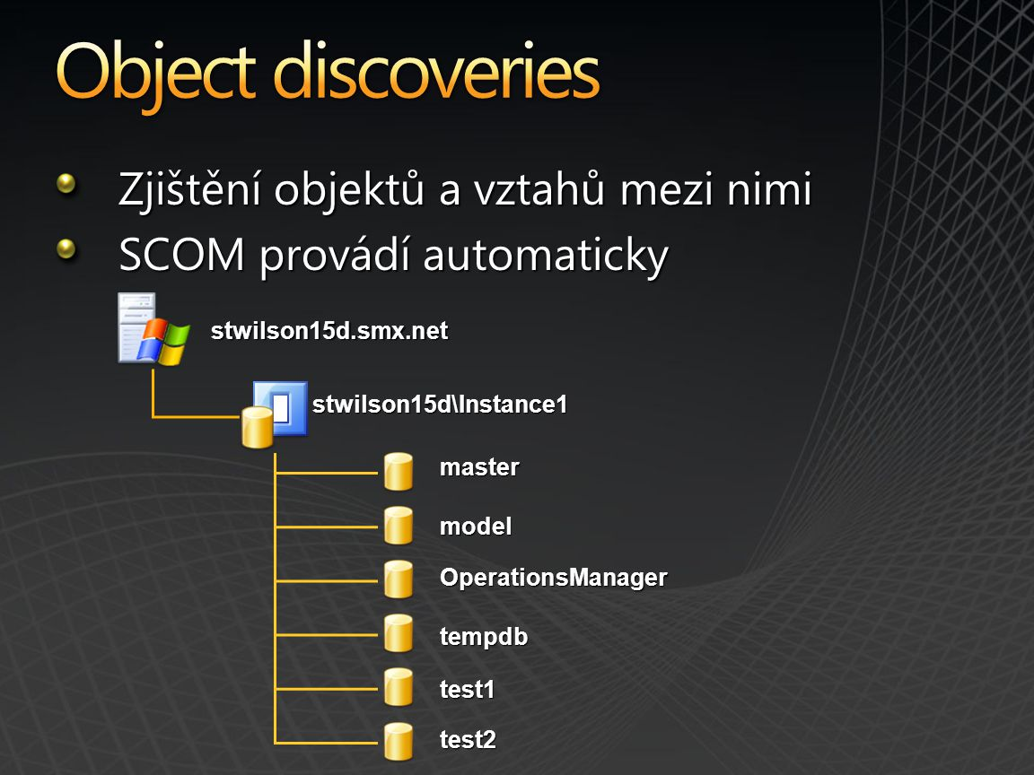 Object discoveries Zjištění objektů a vztahů mezi nimi
