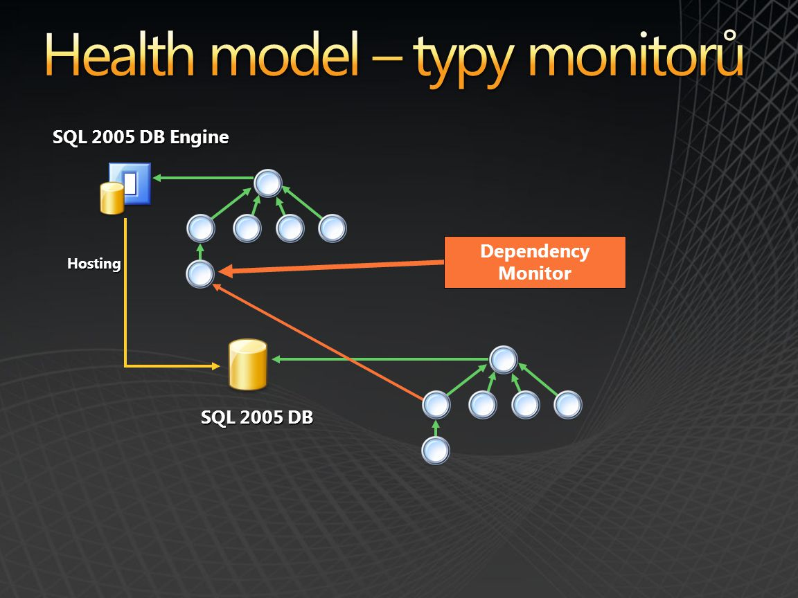Health model – typy monitorů