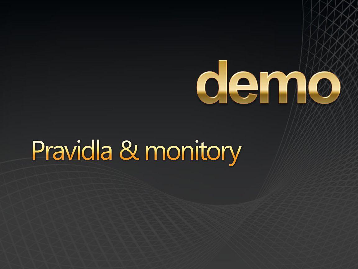 demo Pravidla & monitory