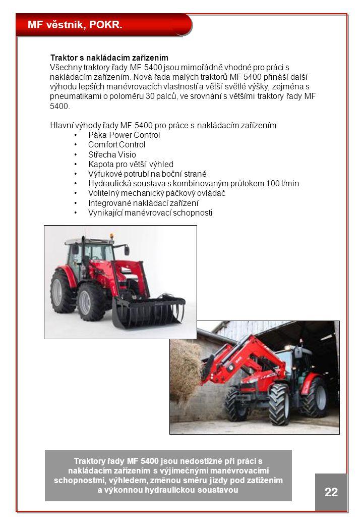 Traktor s nakládacím zařízením