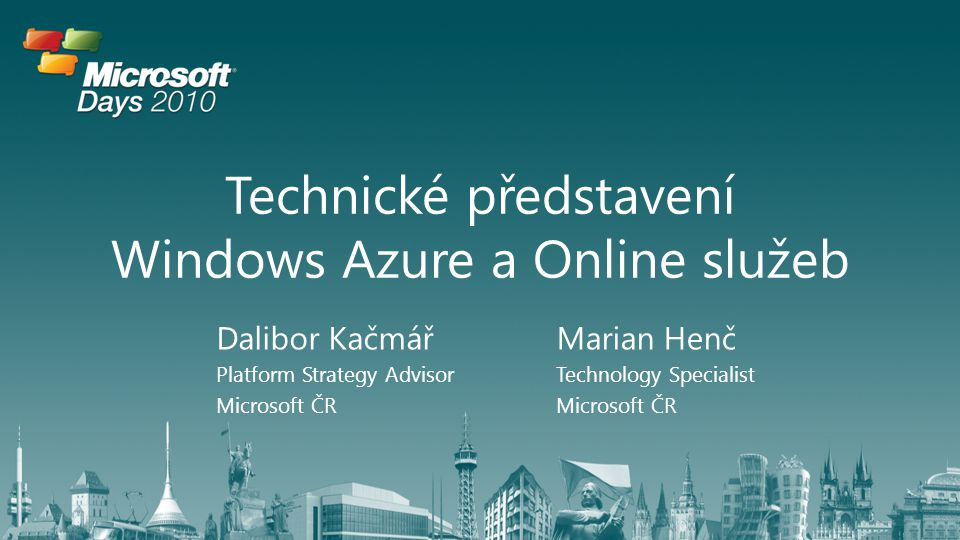 Technické představení Windows Azure a Online služeb