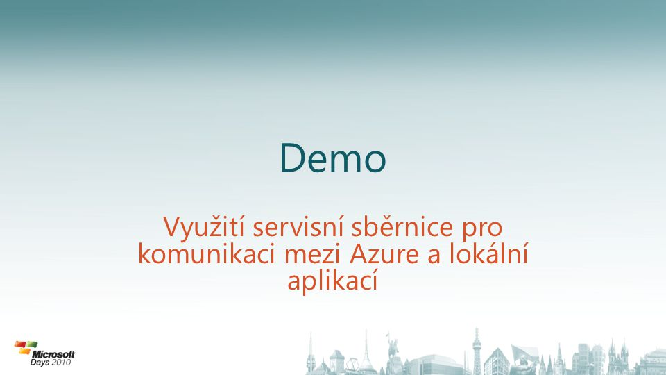 Využití servisní sběrnice pro komunikaci mezi Azure a lokální aplikací