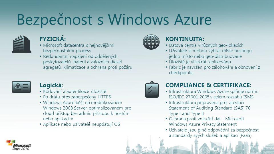 Bezpečnost s Windows Azure