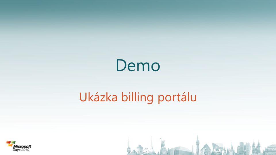 Ukázka billing portálu