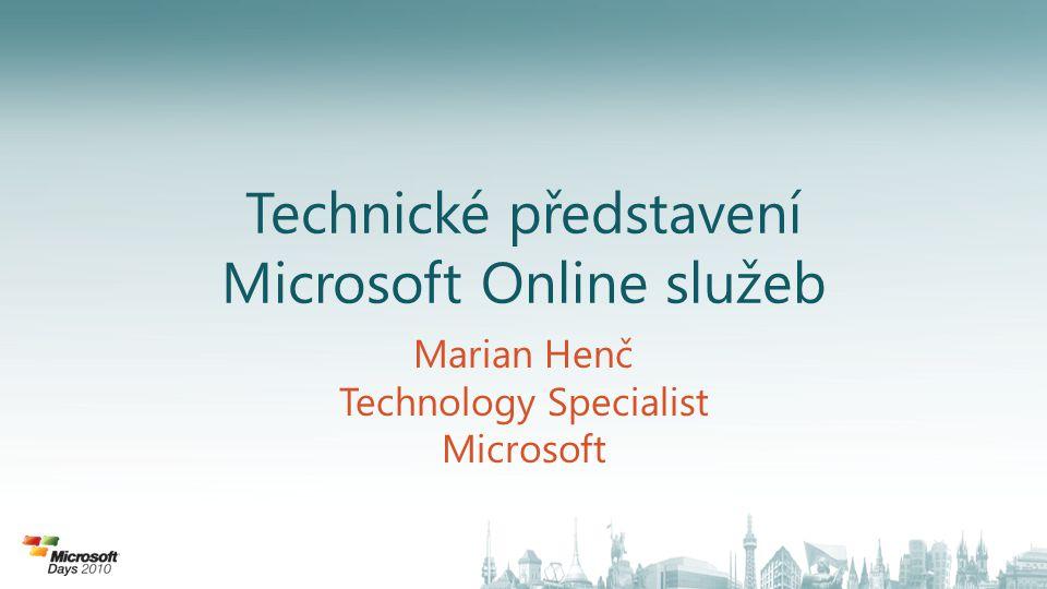 Technické představení Microsoft Online služeb