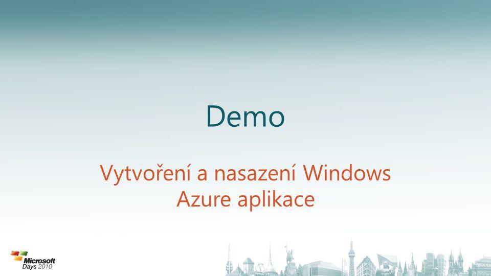 Vytvoření a nasazení Windows Azure aplikace