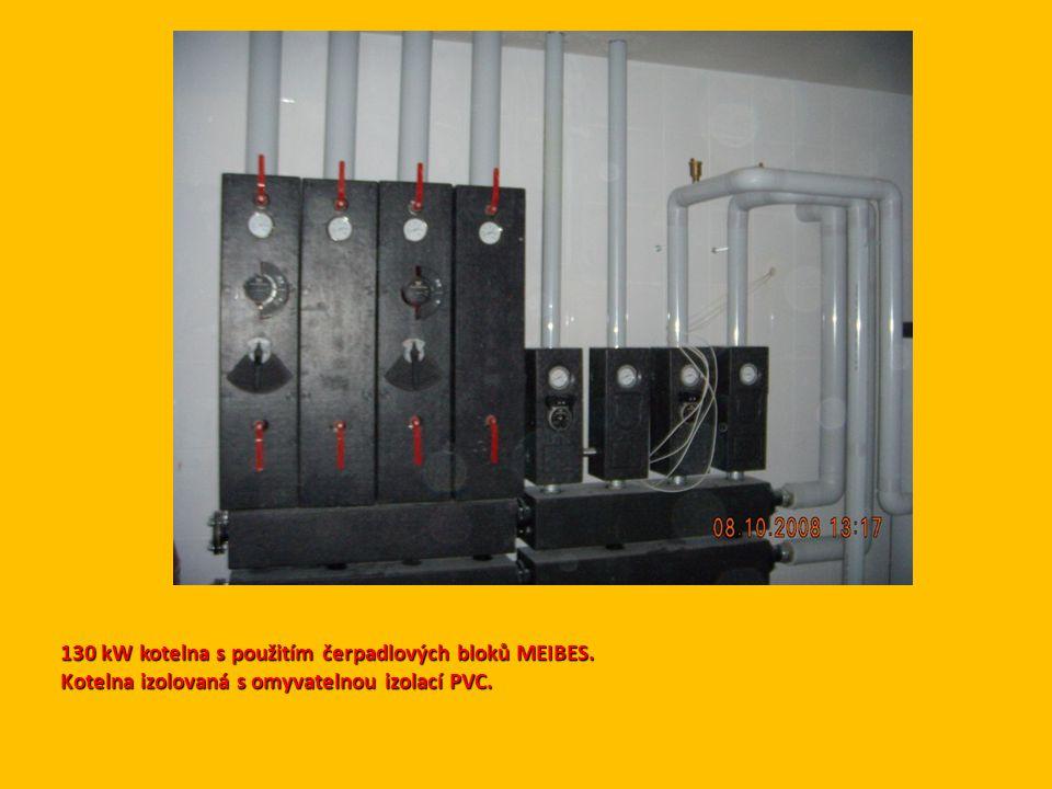130 kW kotelna s použitím čerpadlových bloků MEIBES