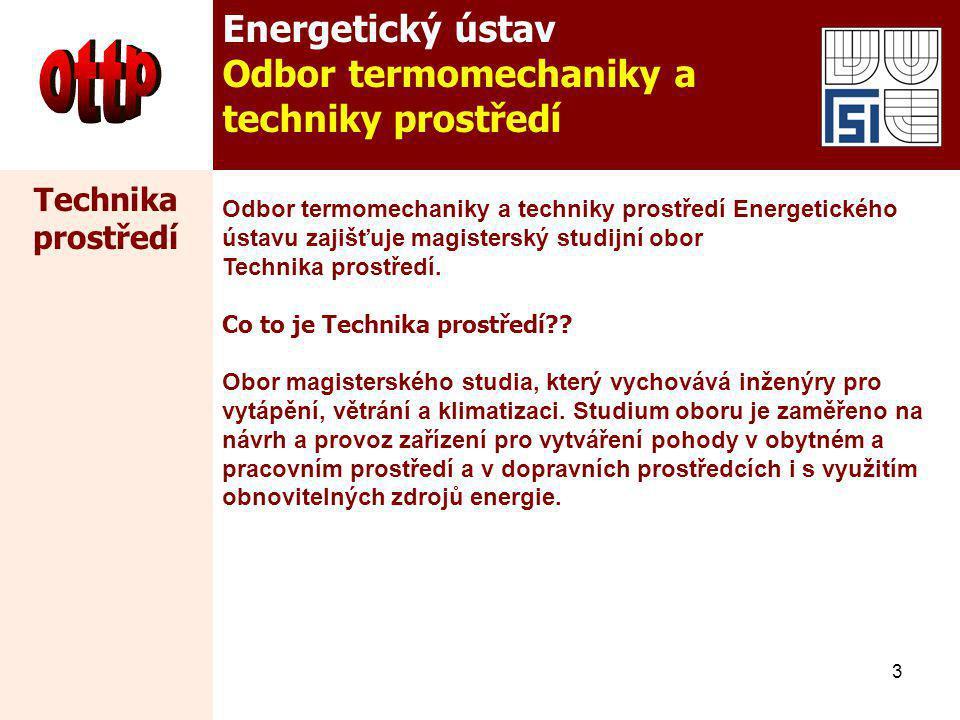 ottp Energetický ústav Odbor termomechaniky a techniky prostředí