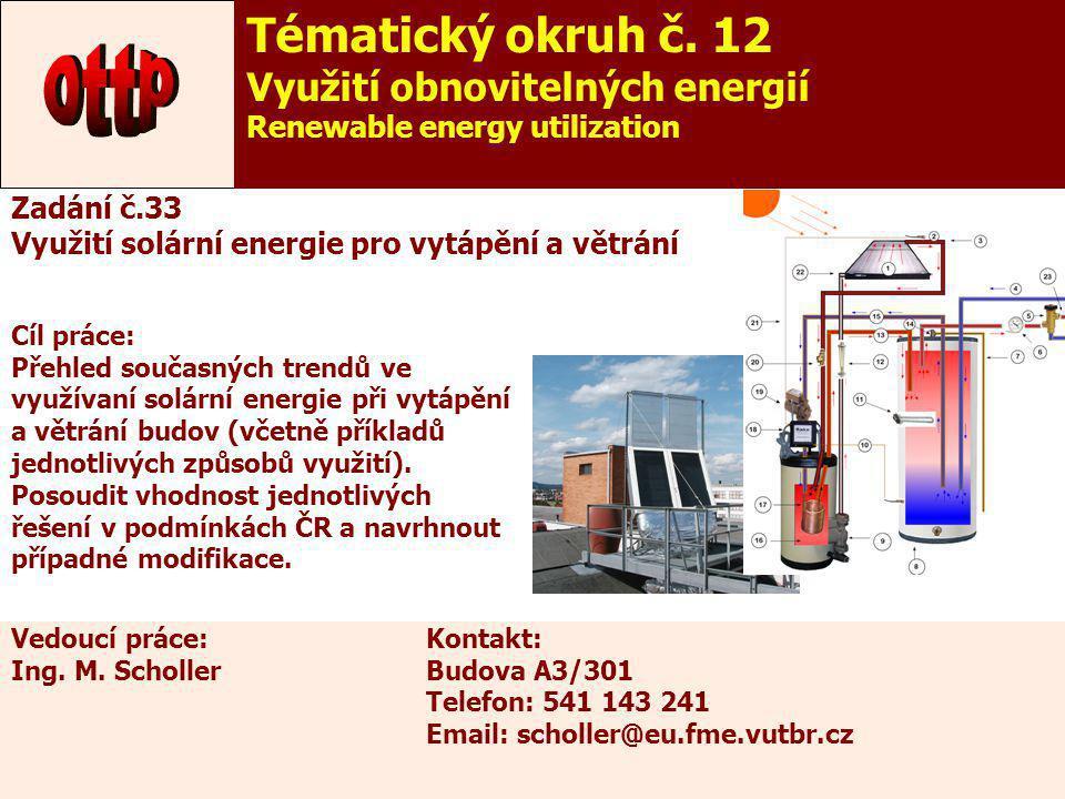 ottp Tématický okruh č. 12 Využití obnovitelných energií