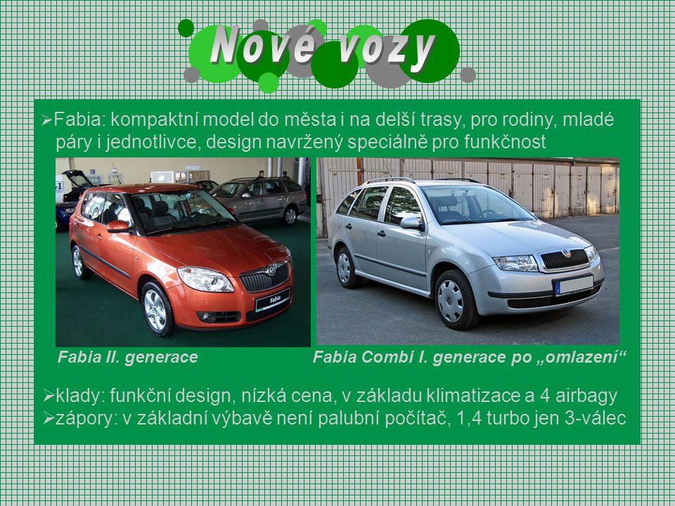 Nové vozy páry i jednotlivce, design navržený speciálně pro funkčnost