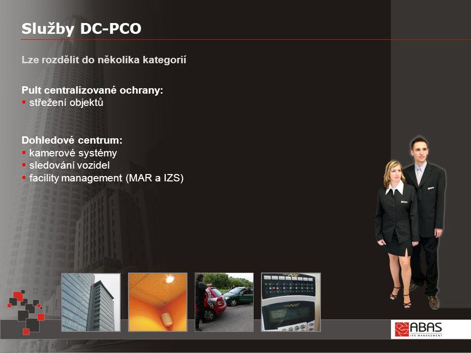 Služby DC-PCO Lze rozdělit do několika kategorií