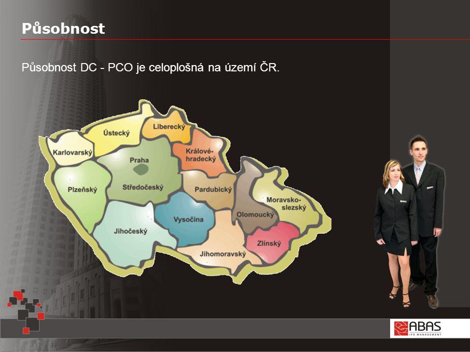 Působnost Působnost DC - PCO je celoplošná na území ČR.