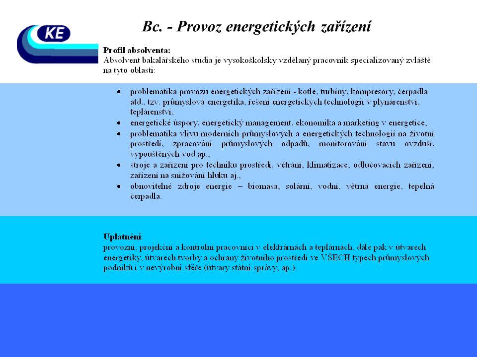 Bc. - Provoz energetických zařízení