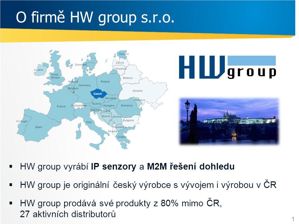 O firmě HW group s.r.o. HW group vyrábí IP senzory a M2M řešení dohledu. HW group je originální český výrobce s vývojem i výrobou v ČR.