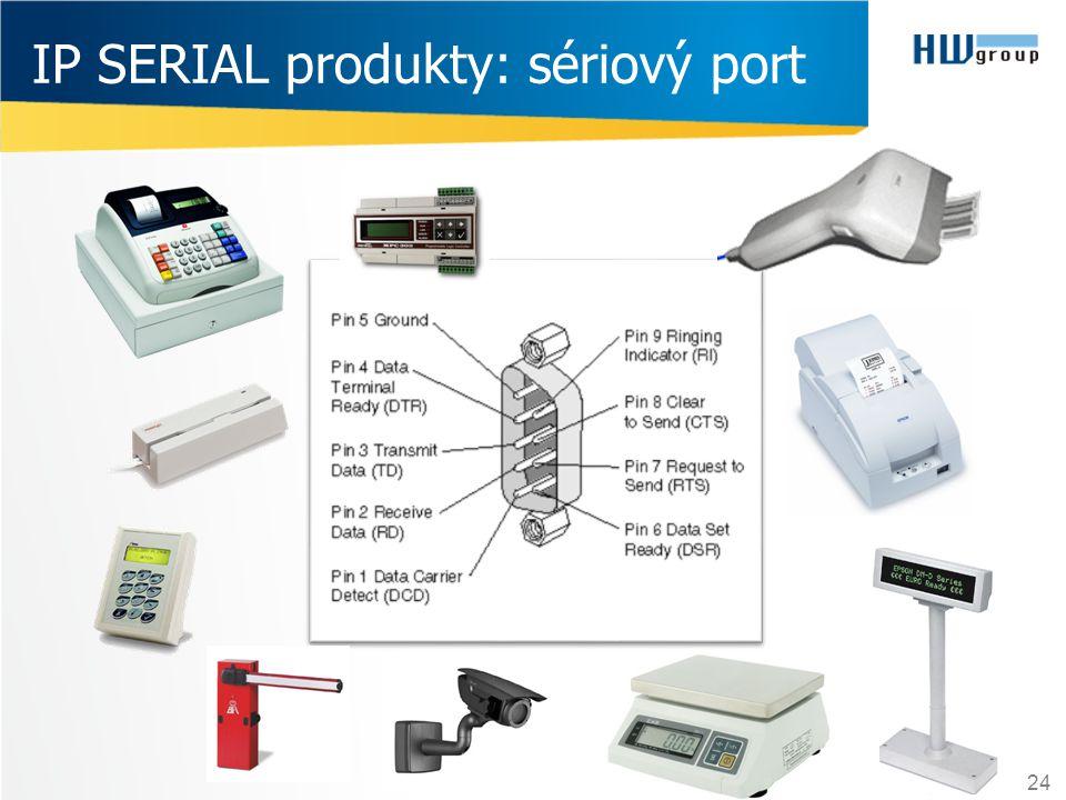 IP SERIAL produkty: sériový port