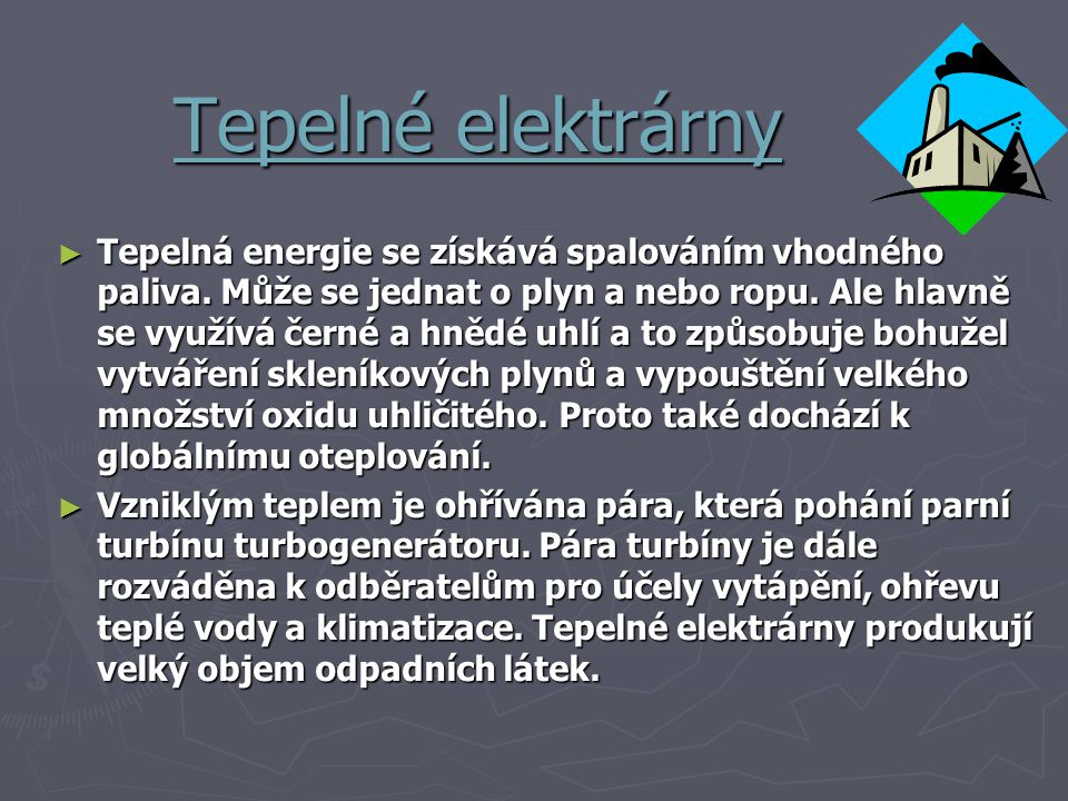 Tepelné elektrárny