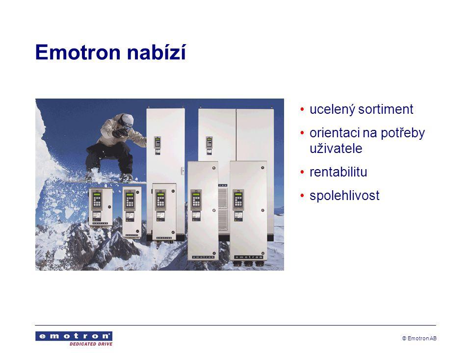 Emotron nabízí ucelený sortiment orientaci na potřeby uživatele