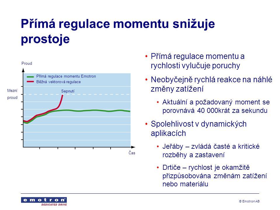Přímá regulace momentu snižuje prostoje