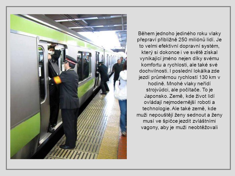 Během jednoho jediného roku vlaky přepraví přibližně 250 miliónů lidí