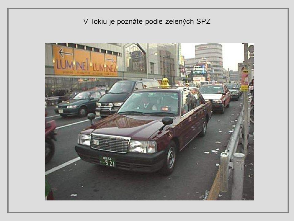 V Tokiu je poznáte podle zelených SPZ