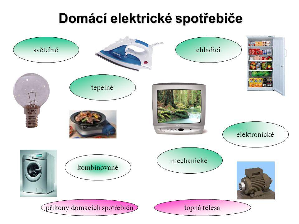 Domácí elektrické spotřebiče